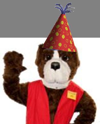 Safety Bill in Birthday hat